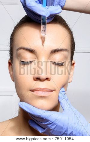 Wrinkle reduction, the lion's wrinkle injection Botox