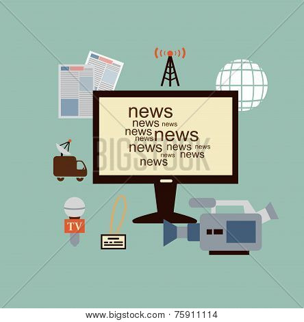 journalist says TV news illustration