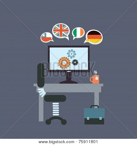 desktop translator illustration