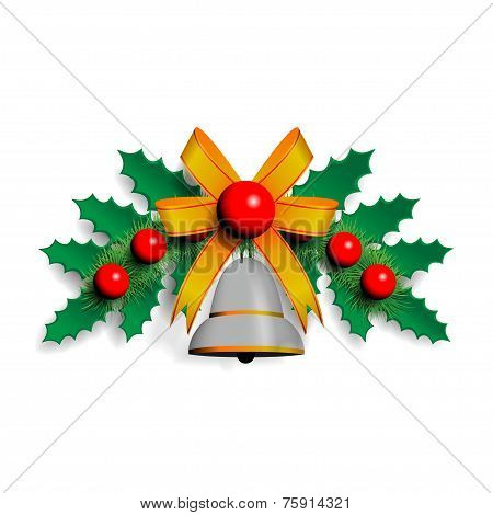 illustration of Christmas garland