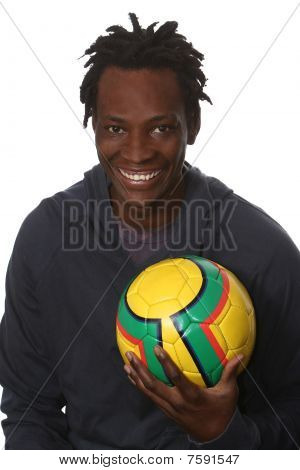 Young African Soccer Player