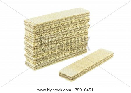 Wafers On White Background