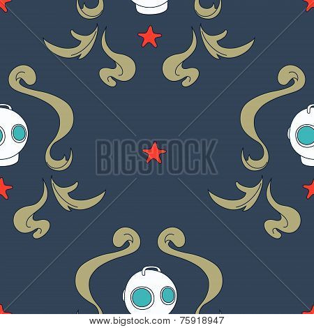 Under the sea seamless pattern