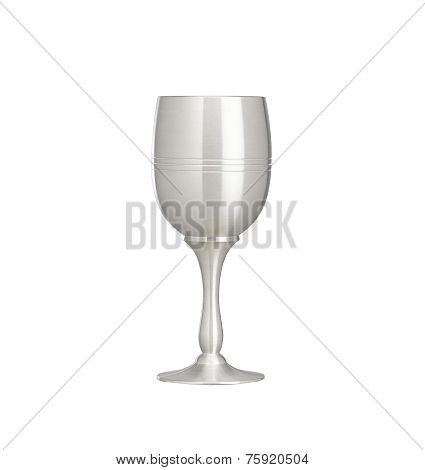 elegant pewter wine glass