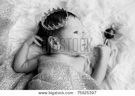 Portrait Of A Newborn Baby Boy