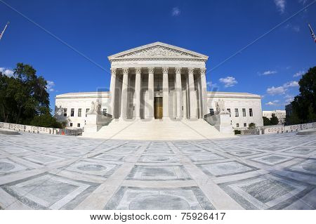 Supreme courthouse in Washington