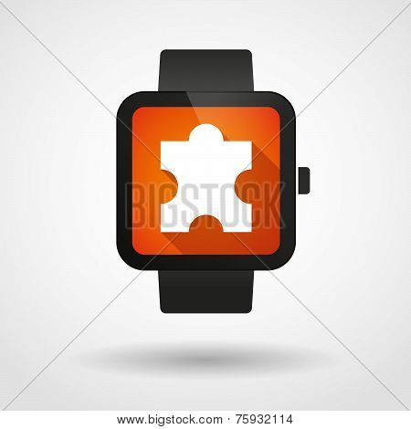 Smart Watch Icon With A Male Sign