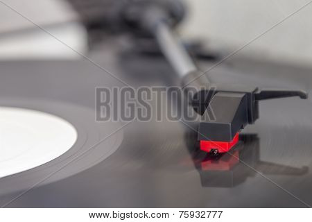 Detail View Of Record Player