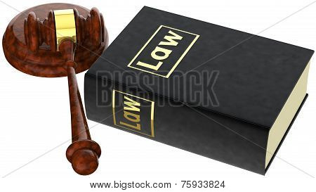 Justice Gavel And Law Book