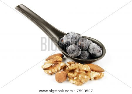Frozen Blueberries And Nuts