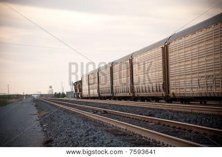 tren del ferrocarril locomotora Argo en Arizona