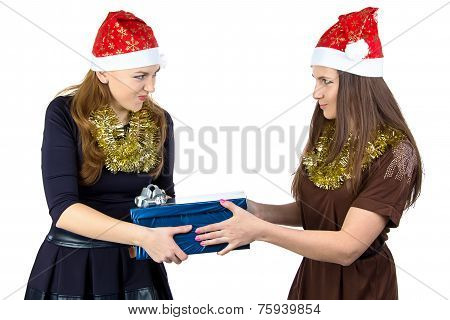 Photo of young women with the gift