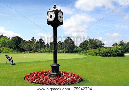Outdoor Clock Post