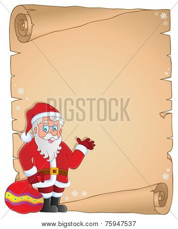 Christmas thematic parchment 9 - eps10 vector illustration.