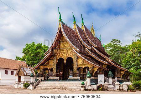 LUANG PRABANG, LAOS - OCTOBER 26; Wat Xieng Thong is the main temple of Luang Prabang, on October 26