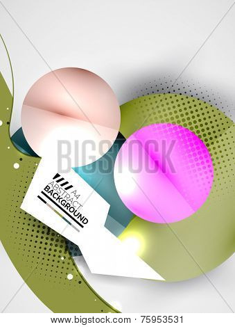 Abstract circles, hi-tech futuristic background, business template, purple colors