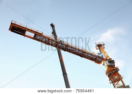 The Erection Of A Tower Crane, Counter Jib  Assembly