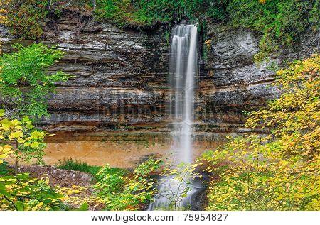 Autumn At Munising Falls