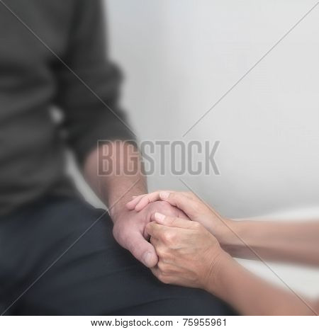 Offering comfort to patient