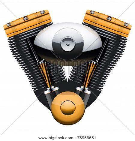 retro motorcycle motor engine.