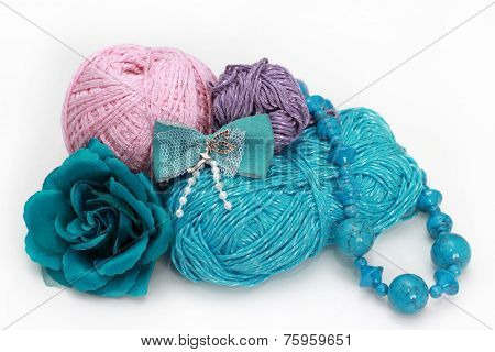 Handmade Accessories - Three  thread On White Background