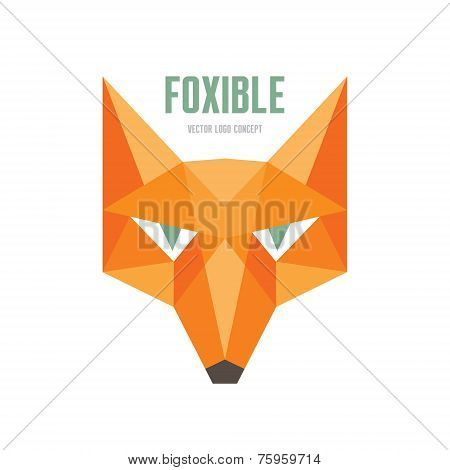 Foxible - vector logo concept. Fox head vector illustration. Fox head vector logo template.