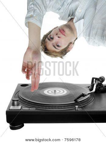 Dj Scratching Record