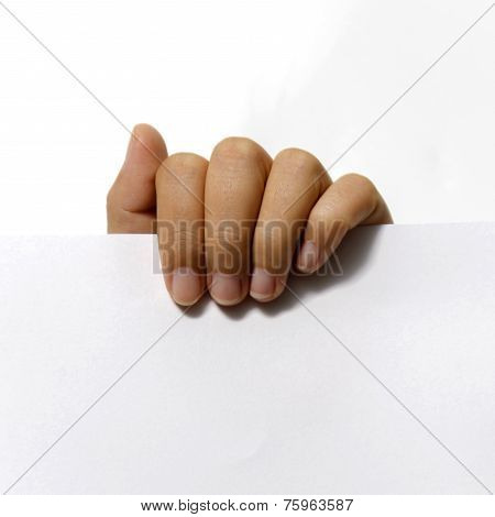 Close Up Woman Hand Holding Paper