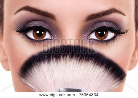 Beautiful Woman Eyes Makeup