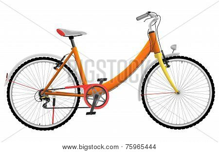 Ladies orange urban sports bike