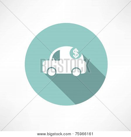 car icon with dollars