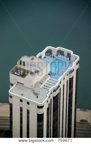 Chicago - Skyscraper Top with Swimming Pool