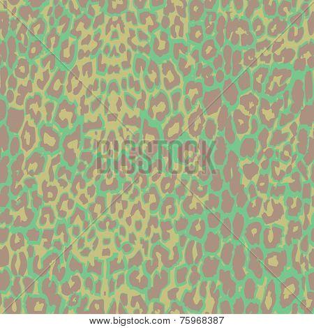 Green jaguar spotted background.