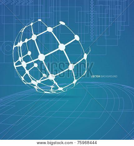 Techno globe background