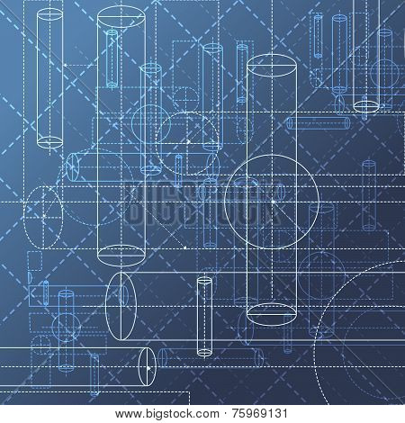 Technical drawing abstract background