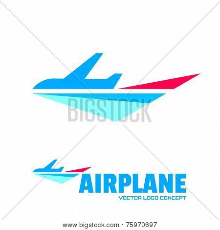 Airplane - vector logo concept. Aircraft illustration. Vector logo template. Minimal classic style.