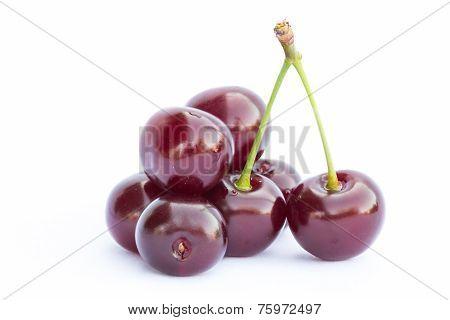 Ripe cherry berries