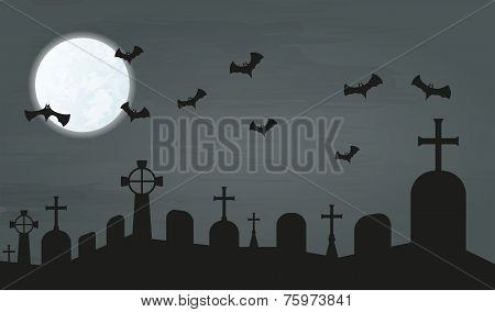 Bats And Cemetery