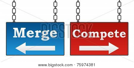 Merge Compete Signboards
