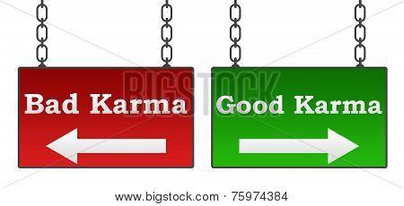 Good Bad Karma Signboards