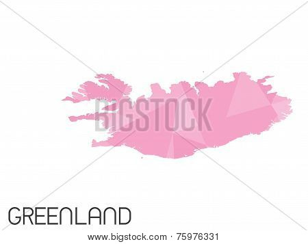 Set Of Infographic Elements For The Country Of Greenland