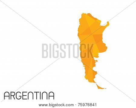 Set Of Infographic Elements For The Country Of Argentina