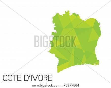 Set Of Infographic Elements For The Country Of Cote Divoire
