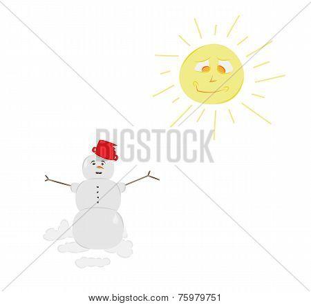 Snow Man And Sun