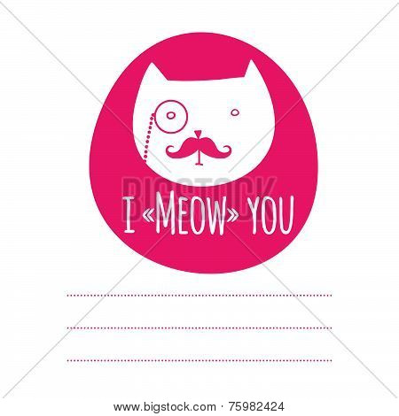 Greeting card with cat