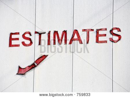 A Sign For Estimates