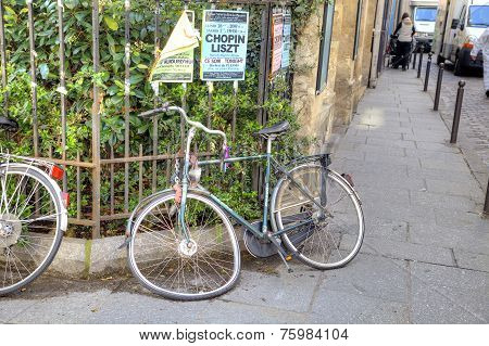 Paris. Broken Bicycle