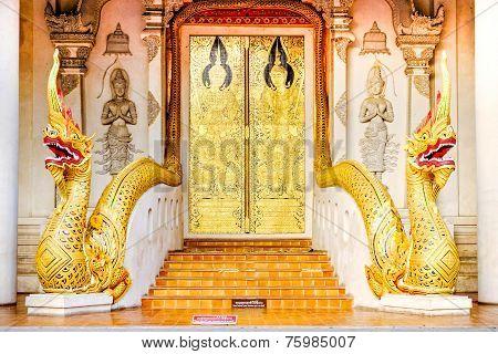 A golden door