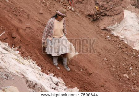 Woman On A garbage dump