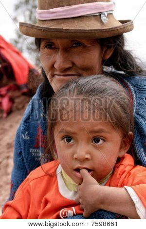 Poor Mother With Child, South America